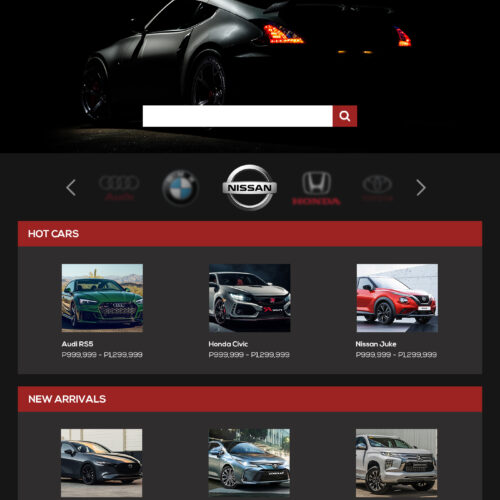 Website Home Mockup for Tycoon Auto - From Team_s Personal Portfolio